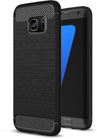 WINDZ Armor carbon Fibre Sock Proof Back Cover For Samsung S7 Edge