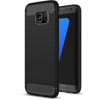 Kartik Armor carbon Fibre Sock Proof Back Cover For Samsung S7 Edge
