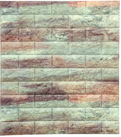 SAMPADA NEW PE FOAM WALL PANELS 3D WALLPAPERS DIY .WALL DECOER PANEL -DH004 TWO TONE MARBLE (WD-07) (75  66cm)