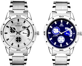 Adamo Analogue Multi-Colour Dial Watch Combo for Men- 109108