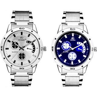 Adamo Analogue Multi-Colour Dial Watch Combo for Men- 109108