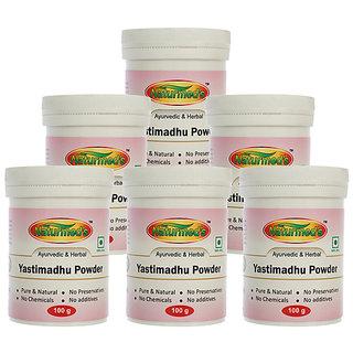 NATURMEDS YASTIMADHU POWDER (MULETHI)(LIQUORICE)) 100 GRMS JAR (PACK OF 6)
