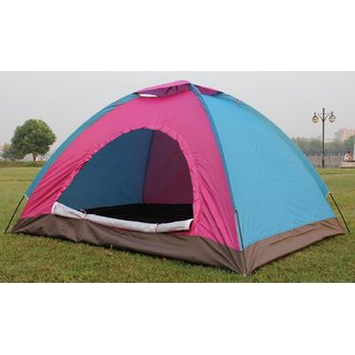 Ezzideals Anti Ultraviolet Four 4 Person Outdoor Camping Tent Portable Tent Tant Port