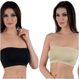 d8c952587d1c8 Buy PACK OF 2 PC MULTICOLOR TUBE BRA(SIZE 28-36) WIREFREE