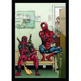 "Spider Man Poster With Black Frame Sixe 8.5"" X 11"""
