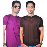Krook Pack Of 2 Henley T Shirts