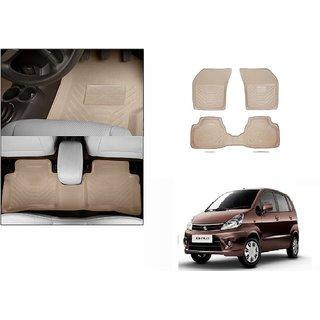 Autonity Perfect Fit 3D Beige Car Floor/Foot Mats For Maruti Zen Estilo