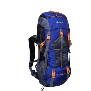 Attache 1025R Rucksack Hiking Backpack 75Lts (Royal Blue) With Rain Cover