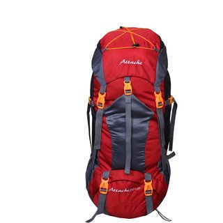 Attache 1025R Rucksack Hiking Backpack 75Lts (Red) With Rain Cover