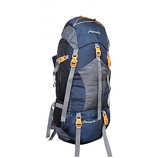 Attache 1025R Rucksack Hiking Backpack 75Lts (Navy Blue) With Rain Cover