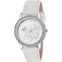 PIRASO Beautiful White Analog Watch For Women-White