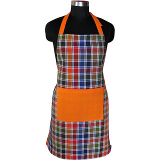 Airwill Apron,Fashion Printed Damask Women Kitchen Apron with Adjustable Buckle on Neck & 1 Center Pocket,Perfect for Cooking,Baking, 65 centimeter in Width and 80 centimeter Full in Length