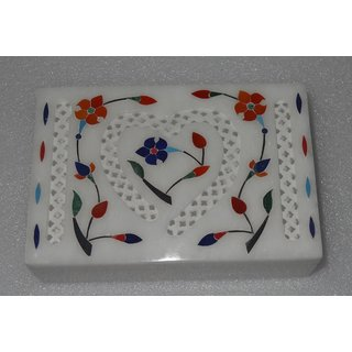 Marble Jewellery Box Inlaid Hand Carve Mosaic Art Bedroom gifts