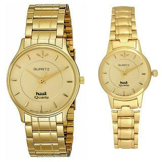 Hwt mens and womens party wear couple watch combo