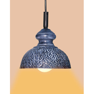 AH  Gray color Iron  Pendant Ceiling Hanging Lamp ( Pack of 1 )