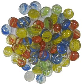 Decorative Glass Pebbles colorful vase fillers for home decoration and Aquarium (cat eyed transparent marbles)
