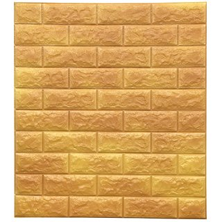 Pack Of 4 Sampada New Pe Foam Wall Panels 3d Wallpapers Diy Wall Decoer Panel Dh005 Yellow Gold Wd 13 75 66cm