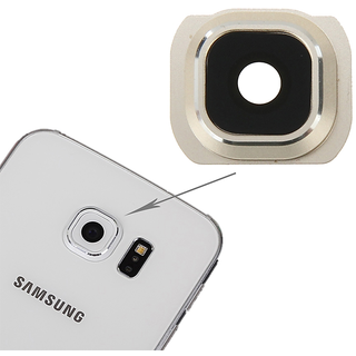 New Camera Lens Glass Cover - For Samsung Galaxy S6 - gold