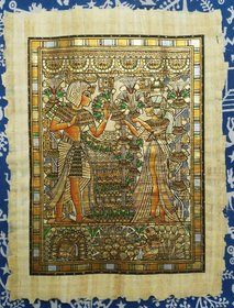 Vijay int inc Egyptian papyrus handmade painting