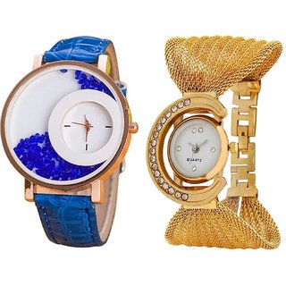 Star Colors Fast Selling Beautiful  Hot Combo Pair Best Selling Combo Analog Watch - For Girls