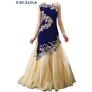 Styloway Designer Party Wear Gown Blue Color Being