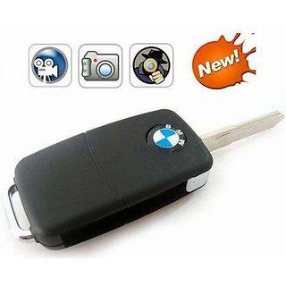 BMW Car Key HD Digital Camera Keychain Dvr Keyring - Black