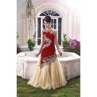 Anarkali dress zoya-red colour