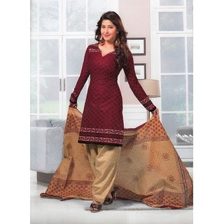 Dress Material Cotton Designer Prints Unstitched Salwar Kameez Suit D.No SG436