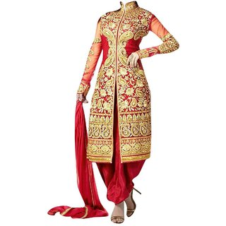 Red shervani salwar suit
