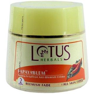 Lotus Herbals Papayablem Papaya N Saffron Anti Blemish Creme (50G)