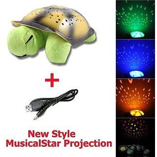 Turtle Night Light Sky Star Constellation LED Child Sleeping Projector Lamp