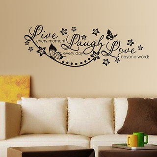 Pvc Live Laugh And Love Wall Quote Family Wall Decal (39X39 Inch)