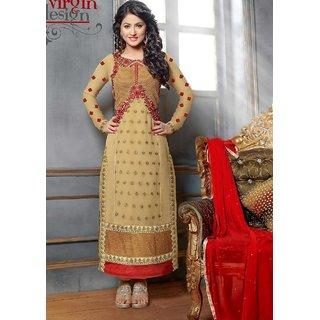 Indian Bollywood Acteress Hina Khans Designer Wedding Wear Straight SalwarSuit