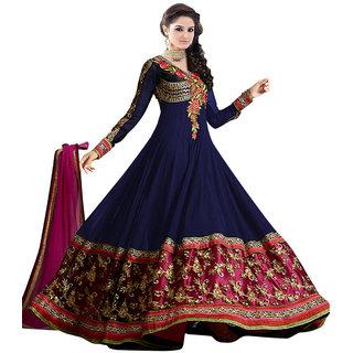 P & N semi tises blue lehari dress materiyal