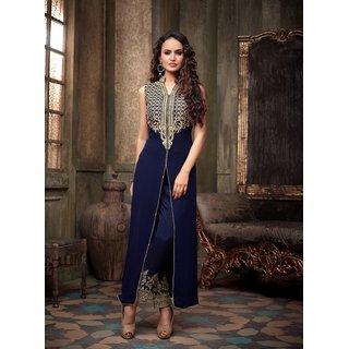 Trendz Apparels Navy Blue Georgette Pakistani Suit Salwar Suit