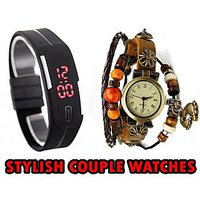New Generation couple watches