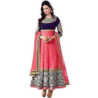 Yourstyle Georgette, Net Embroidered Semi-stitched Salwar Suit Dupatta Material