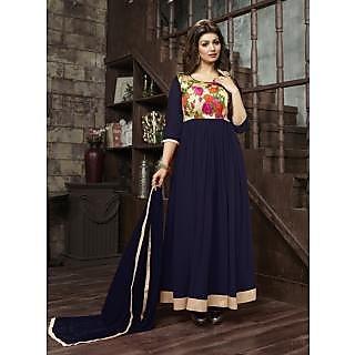 Trendz Apparels Blue 60 gm Georgette Anarkali Suit Salwar Suit
