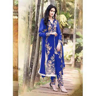 fabulos style design jodha blue salvar suit