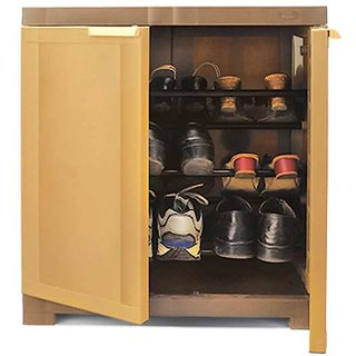 Buy Nilkamal Freedom Mini Shoe Cabinet 09 Sandybrown-Dark Brown ...