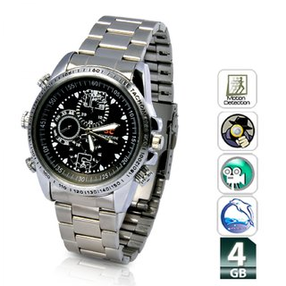 SPY Camera watch steel model