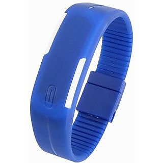 Blue LED Band Wrist Watch.