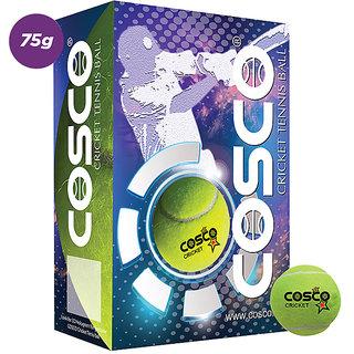 COSCO CRICKET TENNIS BALLS LIGHT WEIGHT YELLOW PACK OF 6 PCS BALLS