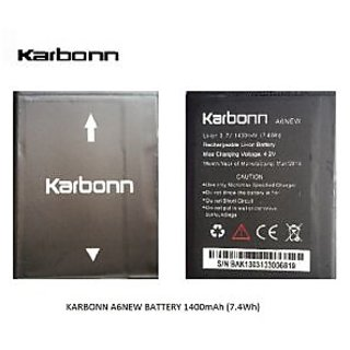 NEW BATTERY A6 NEW FOR KARBONN PHONES 1400mAh