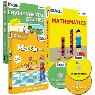 Class 1-Mathematics, EVS  Maths Activity Combo CDs-IDaa