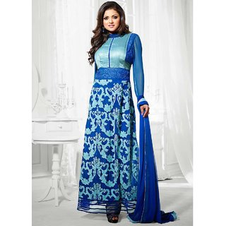 Thankar Latest Designer Blue Long Sleeve Straight Suit