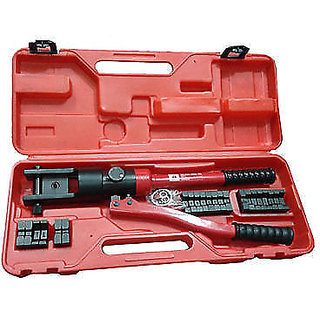 16 Ton Quick Hydraulic Crimper Cable Plier Crimping Tool Kit 16 -300mm 11 Die