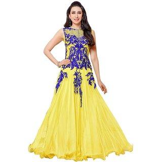 Fashionable  Designer lemon Anarkali salwar suits/ Party wear Salwar kameez