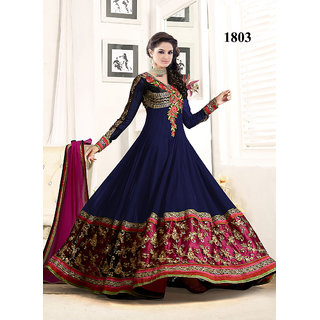 874daf4905c Buy VandV Fabulous Heavy Embroidered Blue Floor Length Anarkali Suit ...