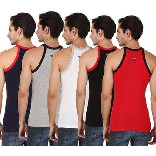 Men's Multicolor Jim Vest Cotton Wear ( 5 Pcs Of Pack) Mens ,Cotton Jim Vest (TH-GTR9785)